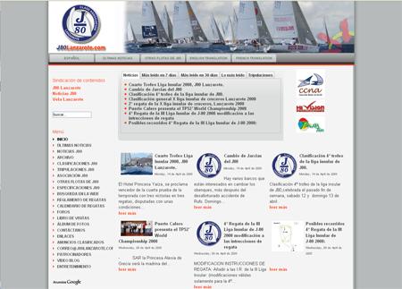 Portal web de la flota de monotipos de regatas J80, Lanzarote