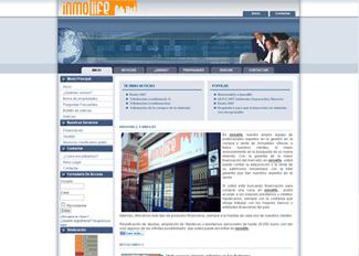 Página web de la inmobiliari Inmolife