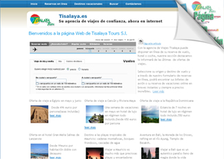 Página Web Viajes Tisalaya, Lanzarote