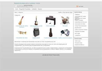 Tienda en línea simple, con productos de ejemplo instalados