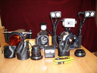 equipo de grabación submarina